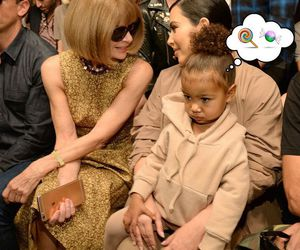 kim kardashian, north west, and Anna Wintour image