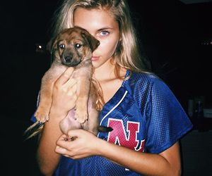 blonde, dog, and iphone image