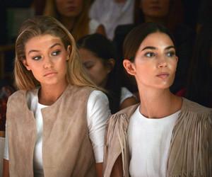 gigi hadid, model, and Lily Aldridge image