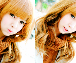 asia, red hair, and girl image