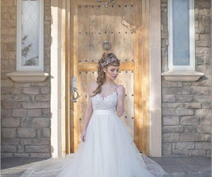 wedding, dress, and winter image
