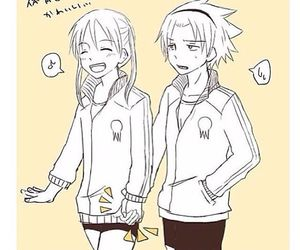SoMa, soul eater, and anime couple image