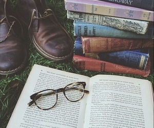 books, glasses, and shoes image