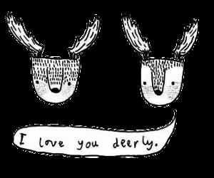 love, deer, and cute image