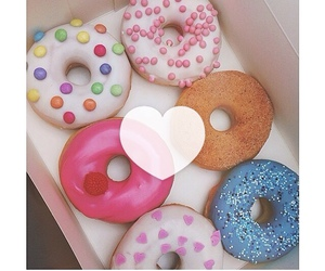 strawberry, donuts, and doughnuts image