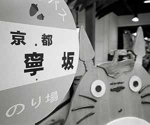 black and white, totoro, and japan image