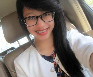 Cute teens with braces glasses not