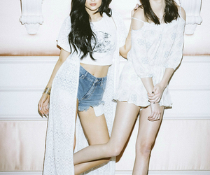 kendall jenner, kylie jenner, and white image