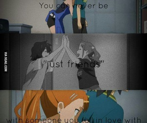 love, friends, and anime image