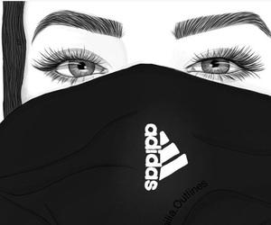 adidas, art, and eyes image