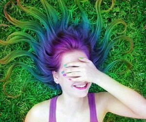 hair, green, and cool image