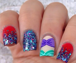glitter, nails, and little image