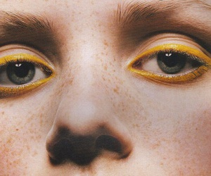 yellow, eyes, and freckles image
