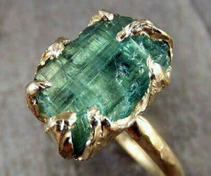 gold, jewelry, and emerald image