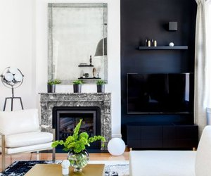 black, design, and fireplace image