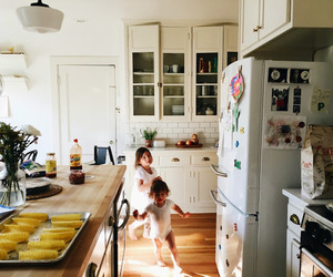 kids, kitchen, and vintage image
