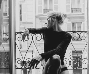 blonde, balcony, and model image