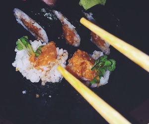food, sushi, and bae image