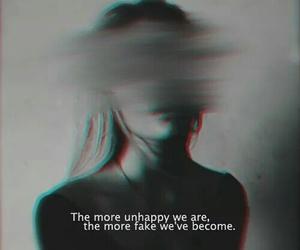 sad, unhappy, and fake image