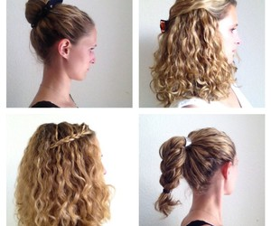 curly hair, Easy, and hairstyles image