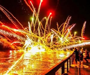 black, firework, and night image