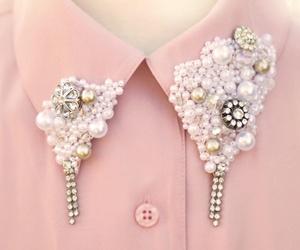 fashion, pink, and collar image