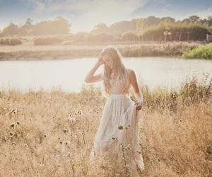 girl, dress, and sun image
