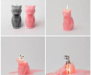 candle, cat, and skeleton image