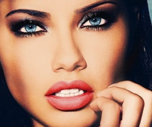 Adriana Lima, model, and eyes image