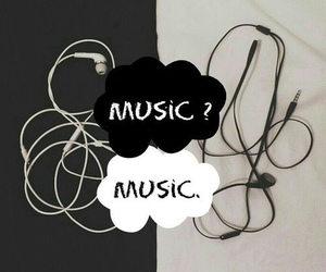 music and white image