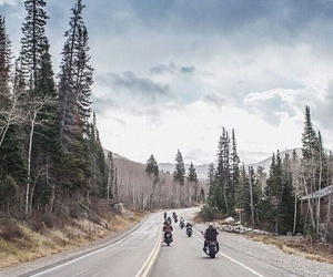 motorbike, travel, and friends image