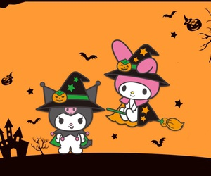 Halloween, kuromi, and my melody image
