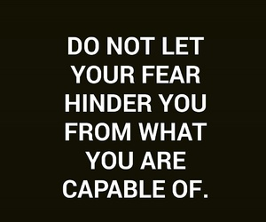 fear, fitness, and inspiration image
