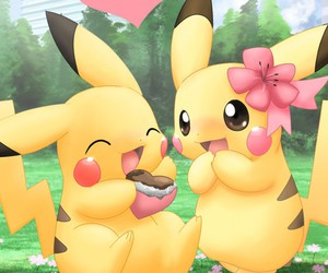pikachu, valentine's, and cute image