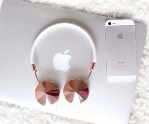 apple, iphone, and headphones image