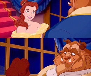 adam, beauty and beast, and belle image