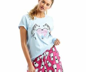 pyjamas, shorts, and zebra image