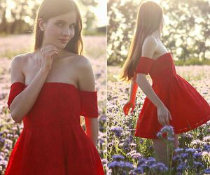fashion, glamour, and red dress image