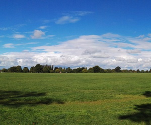 clouds, grass, and park image