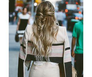 blonde, braid, and girly image