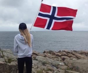 flag, norway, and norwegian image