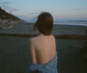 alone, beach, and lost image