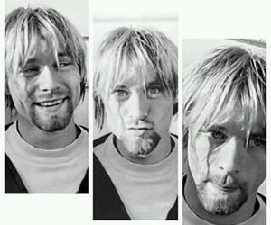 kurt cobain, black and white, and grunge image
