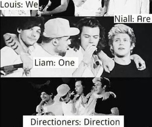 one direction, black and white, and directioner image