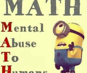 minions, math, and funny image