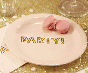 birthday party, gold, and cute image