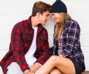 couple, plaid, and cute image