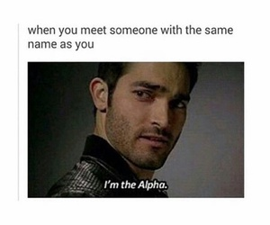 alpha, teen wolf, and funny image