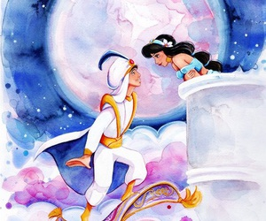 disney, aladdin, and art image