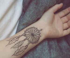 tattoo, Dream, and dreamcatcher image